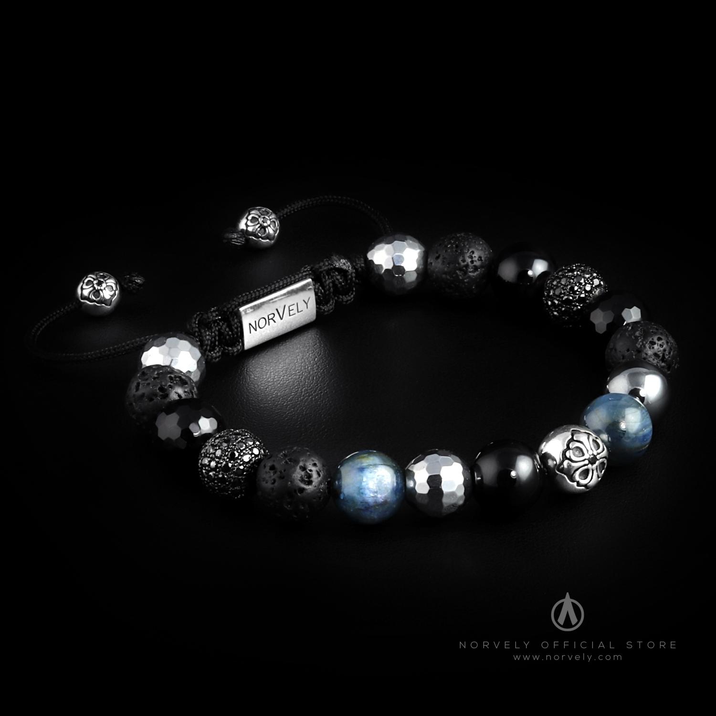 925 Silver Lily & Black CZ Diamonds Balls / Mixed Semi