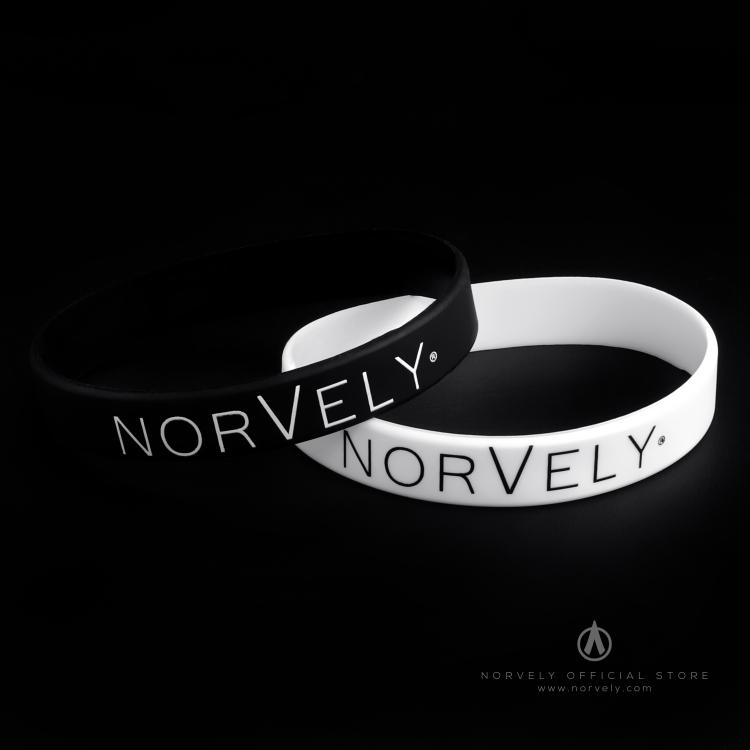 Norvely silicone bracelet - Black / White