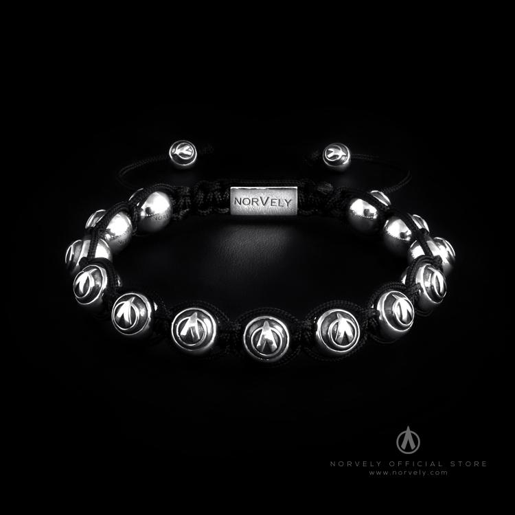 Sterling Silver Logo Balls 10mm Link Bracelet