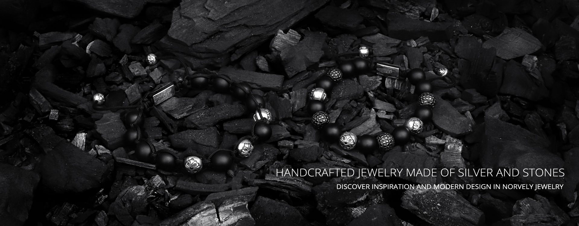 Handcrafted jewelry made of silver and stones